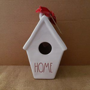 NEW Rae Dunn Slant Roof Birdhouse HOME RED LETTER